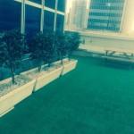 משרדים מטופחים עם נוף לים