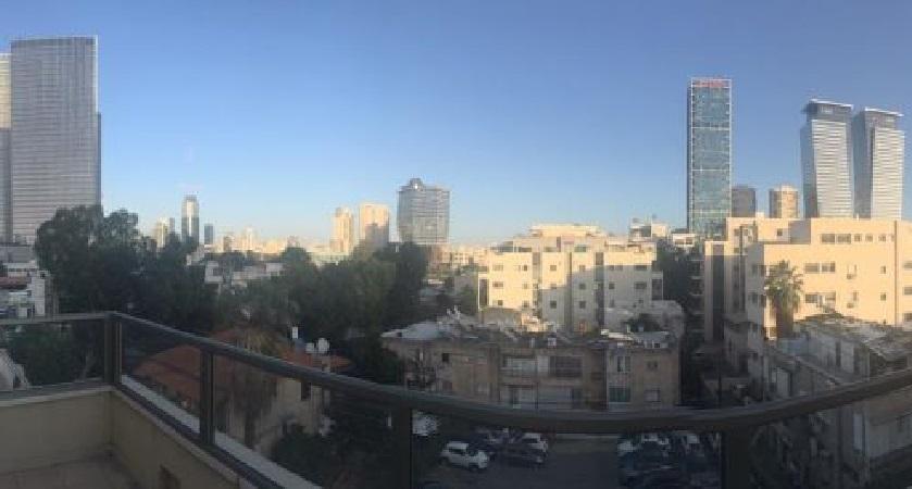מרפסת של משרדים להשכרה בשכונת מונטיפיורי תל אביב עם מרפסת