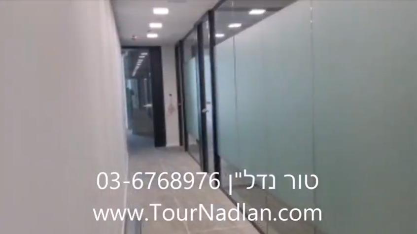 מסדרון של משרדים להשכרה במגדלי עזריאלי חולון