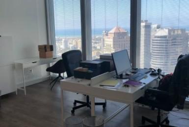 """700 מ""""ר משרדים מרוהטים, במגדל אמות אטריום, ק' גבוהה, נוף לים"""