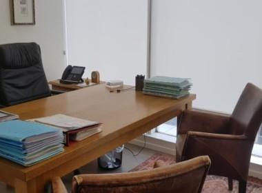 """משרדים להשכרה במגדל בסר 4,גודל הנכס: 173 מ""""ר ברוטוקומה: 4 מתוך 40המחיר המבוקש: 70 ש""""ח למ""""רדמי ניהול: 15 ₪ למ""""רמחיר חניה: 700 ש""""חהמשרדים כוללים: 6.5 חדרים + עמדת קבלה + מטבחון, אחד החדרים הוא חדר ישיבות, מטבחון, עמדות קבלה והמתנהתאריך כניסה: מידילפרטים נוספים צרו עמנו קשר במייל או חייגו 03-676-8976 או 054-762-4510"""