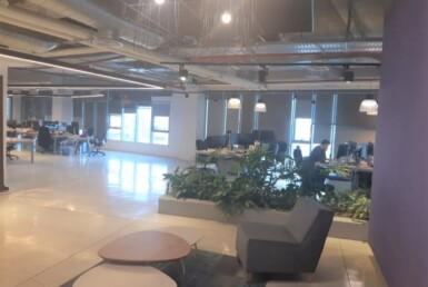 משרדיי היי טק מובהקים במגדל מקסים במרכז תל אביב, רוב השטח הוא אופן ספייס,