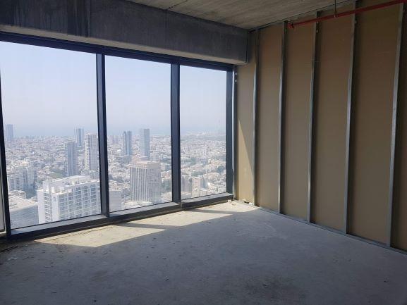 """מגדל מידטאון ת""""א 458 מ""""ר נוף מהחלון"""