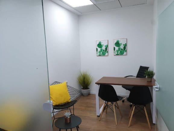 משרד קטן ומדליק, ריהוט מלא למכירה במגדלי אלון,