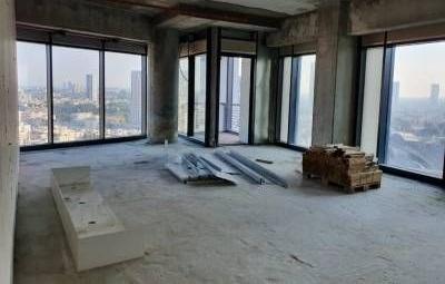 """115 מ""""ר למכירה במגדל רסיטל ק' גבוהה,מעטפת"""