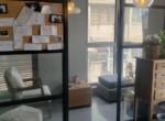 משרד מרוהט יפייפה בש. מונטיפיורי, חדר מנוחה