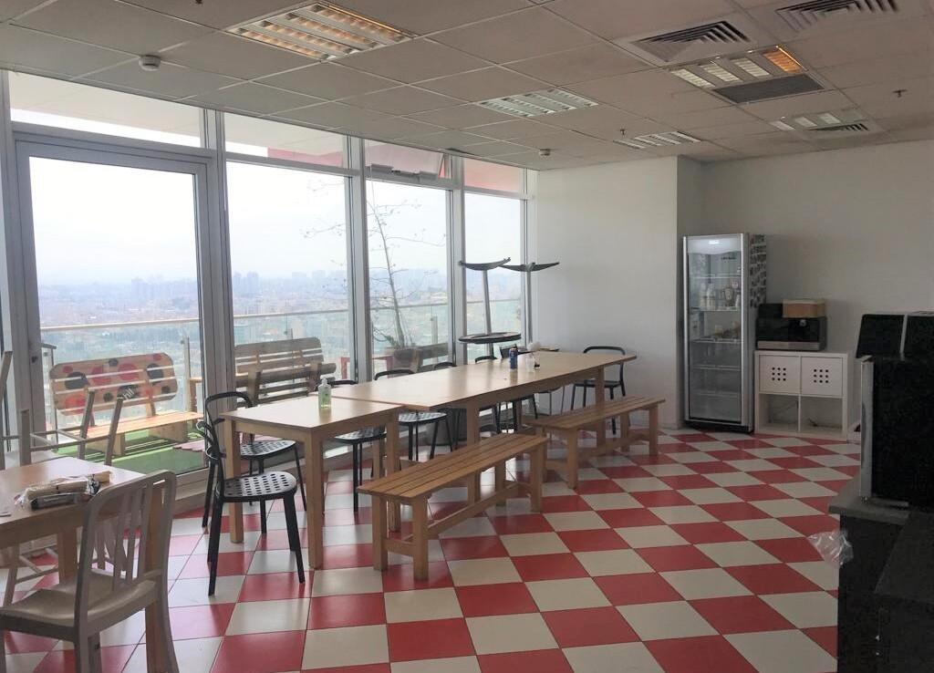 """470 מ""""ר משרד להשכרה בבסר 3 ק' גבוהה, חדר אוכל עם מטבח גדול"""
