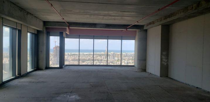"""242 מ""""ר משרדים להשכרה בניין רסיטל, מעטפת נוף לים"""