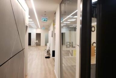 """490 מ""""ר משרדים חדשים באטריום בורסה, מסדרון"""