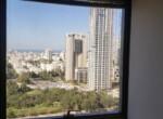 """540 מ""""ר משרד מושלם להשכרה במגדל בבורסה, נוף מהחלון"""