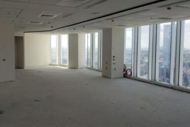 """590 מ""""ר משרד במגדל חדש במצב מעטפת, קומה נוף לים"""