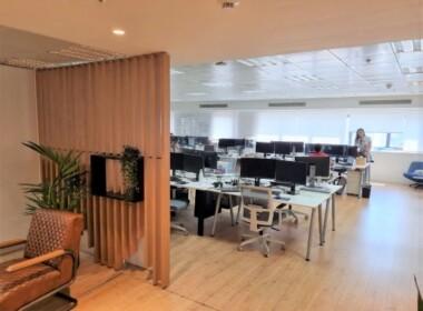 """450 מ""""ר משרדים מטופחים להשכרה בלב תל אביב, אופן ספייס"""