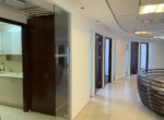 """265 מ""""ר משרד מטופח בגימור גבוה, בקומה גבוהה במגדל משה אביב, מסדרון ומטבחון"""