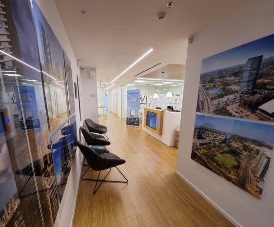 """540 מ""""ר משרד מטופח להשכרה בבנין בוטיק בבורסה בר""""ג, מסדרון"""